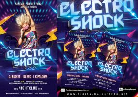 Electro Shock Flyer Template by dennybusyet
