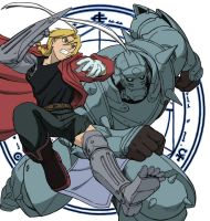 Full Metal Alchemist - Ed and Al by Cyruny