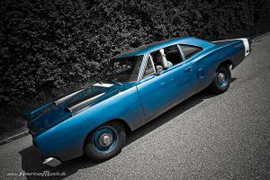 blue big block b-body by AmericanMuscle