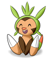 Cheery Chespin by MykeGreywolf