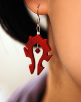 Horde Earrings sideview by Etherpendant