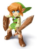 :Commission: Young Link by Taralen
