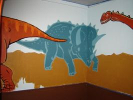 Dinosaur Mural WP 4 by gsilverfish