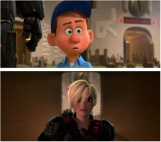 Wreck It Ralph: Felix hears Calhoun's Back Story by JJonasluvr1054