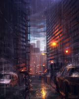 Rainy City by Pheoniic