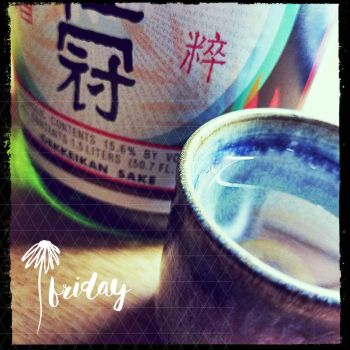 sake and cup by MyCatLovesMe