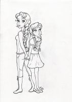 Katniss and Prim by My-Anne