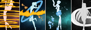 Avatar Senshi Transformations by SelenaEde