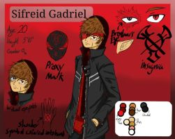 Creepypasta OC Red Death/ Sifreid Reference Sheet by ArtistGamerMage