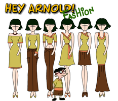Hey Arnold fashion: Curly by Willemijn1991