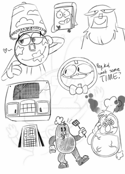 More stupid DHMIS doodles by 99thaboochoft99