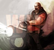 Heavy Weapons Guy WIP by Bekuhz
