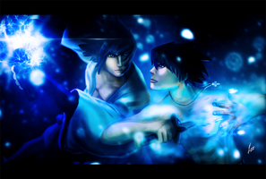 Sasuke vs Gray by 13nin