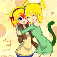 Misa and Chris by XxMystic-Flame