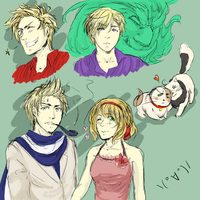 Hetalia Sketches :D by Sacchim