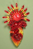 Fire Goddess Lady Pin - 2 by jardan