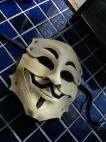 Leather Guy Fawkes Mask by Epic-Leather