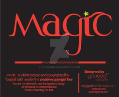 A new Typeface - MAGIC by Ovyggud