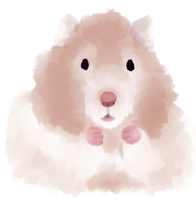 Hamster Painting by Artist-Who-Draws
