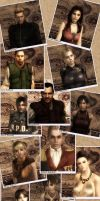 Resident Evil Polaroid Collage by IamRinoaHeartilly