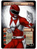Koth of the Hammer Red Ranger painted MtG Alter by iplaythisgame