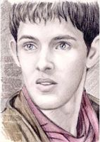 Colin Morgan miniature by whu-wei