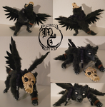 Ravenwolf - Posable Art Doll by MyraethCorax