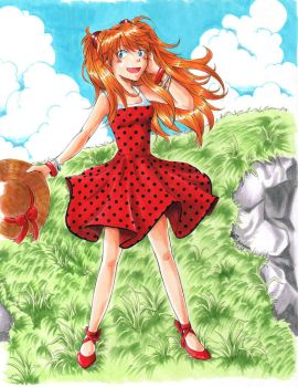 Asuka Red Dress by frostyshark