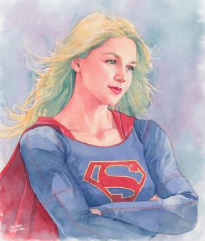 Supergirl watercolor by Trunnec