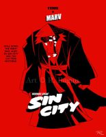 George Lucas' Sin City: Marv by Raphael2054