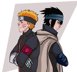Uzumaki and Uchiha by sibandit