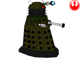 Dalek Drawing (EXTERMINATE colored). by starwars98