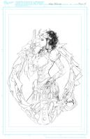 Lady M 1 Cover Pencil Print by joebenitez