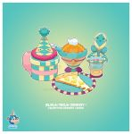 Kawaii Teal Pizza Party by KawaiiUniverseStudio