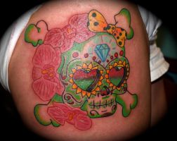 Anthony:Sugar Skull with Bow by QueenAnnesRevenge777