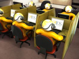 Call Center in 3D by otas32