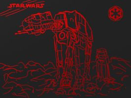 Red Marker: AT-AT by Ergrassa