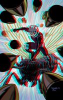 Ant-Man by Chris Samnee in 3D Anaglyph by xmancyclops