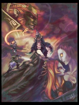 Midna x Zant Comic Cover by StellaB