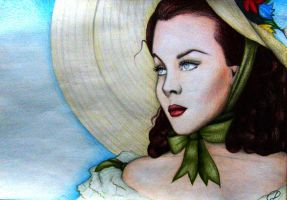 Vivien Leigh gone with the wind by DaniloIndigoCerovic