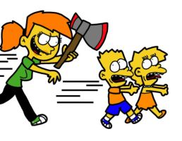 Bart, Lisa and... Vicky by Cookie-Lovey