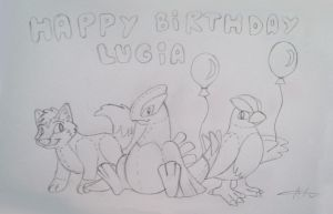 Happy Birthday Lugia by Articuno