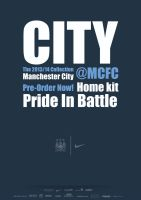 Manchester City 2013/14 Kit Poster by thomasdyke