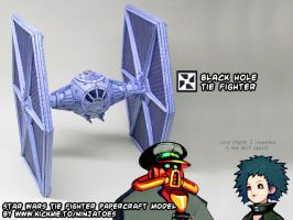 Advance Wars secret papercraft Star Wars TIE-fight by ninjatoespapercraft