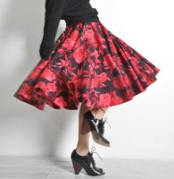 Black Red Cotton 50s Skirt 5 by yystudio