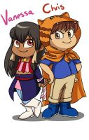 Kiddies - Chris and Vanessa by Card-Queen