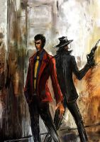 Lupin and Jigen 2 by Gold-copper