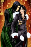 Severus Snape and Harry Potter by Sambre-sambre