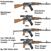 Vuk 5 weapons by crowhitewolf