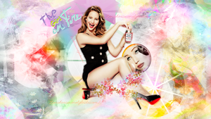 +The Girl on Fire ft. Jennifer Lawrence- Wallpaper by Zanahoriaconstyle